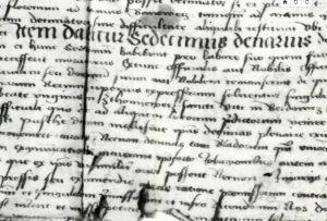 1475. document, defines the process of church tithe conscription